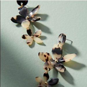 Anthropologie Jewelry - Zenzii Tortoise Flower Drop Earrings